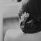 Detalle del peinado que eligió Emma para la boda