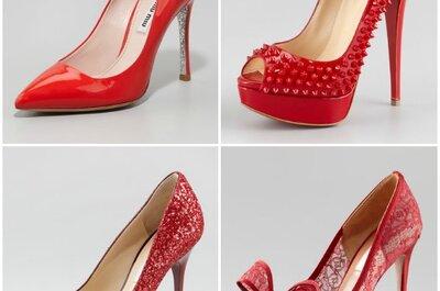 Per la sposa di Natale sì ad un paio di sexy e audaci scarpe rosse!