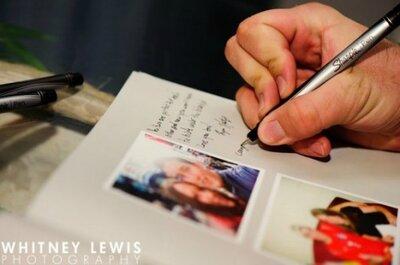 Ideias para os convidados do seu casamento deixarem recados aos noivos