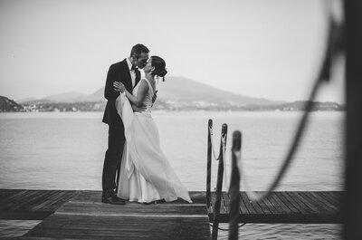 Il rosa, il verde e l'incanto del Lago Maggiore: ecco la favola di Barbara e Flavio