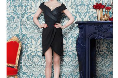 Vestidos de fiesta en color negro de Alice + Olivia para bodas 2013