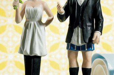 Seleccionamos los muñecos de novios más originales para tu tarta