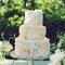 Tu pastel de boda también puede estar inspirado en pinceles con acuarela - Foto Amy Nicole Photography