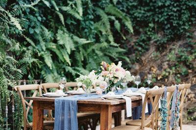 La sencillez como tendencia para las mesas del banquete de bodas