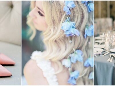 Pantone Colours 2016: Rose Quartz and Serenity Blue. The perfect pair for your 2016 wedding!