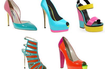 ¿Invitada a una boda? Centra todas las miradas con zapatos en colores neón