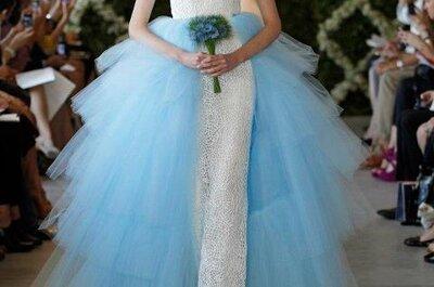 Vestidos de novia 2013 en color azul claro