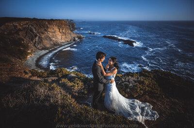 Catarina & João: ela desenhou o seu próprio vestido de noiva!