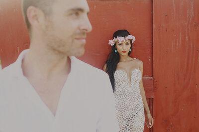 Una novia vestida de sirena: La boda de Grace y Fer en la Riviera Maya... ¡Encantadora!