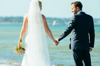 Romy und Gregor: Glamouröse Strandhochzeit an der Ostsee