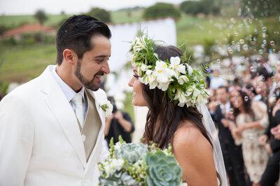 Camila & Cícero: casamento BOHO CHIC impressionante na fazenda!
