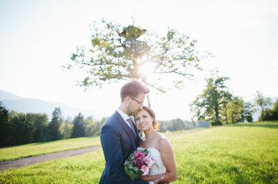 Zauberhafte Hochzeit im eigenen Zuhause: So himmlisch war die Hochzeit von Stefanie & Andreas aus Kärnten!