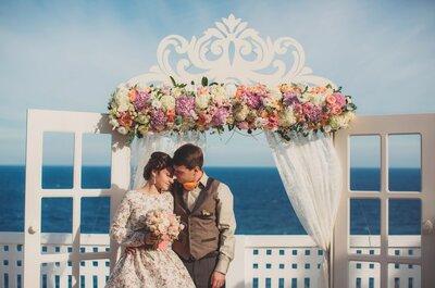 Любовь к ретро: свадьба Елены и Александра в стиле рустик и шебби-шик