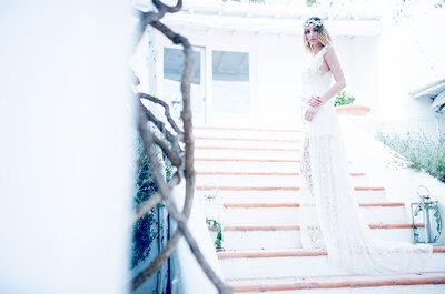 Delicada, sensual y muy romántica: una novia ibicenca que no pasa desapercibida