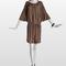 Vestido corto y suelto en marrón. Foto: www.lanvin.com