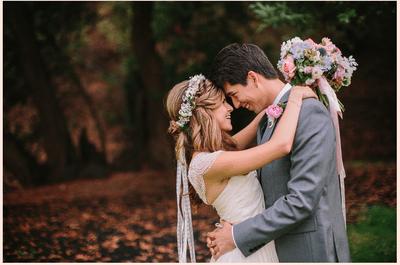 Real Wedding: Una boda encantadora y casual en Oakland, California