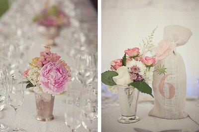 Inspiración para incluir el color rosado en tu boda