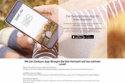Hochzeitsapp von Zankyou und verwalten Sie Ihre Hochzeit mobil
