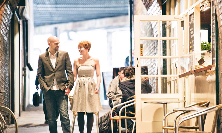 A London engagement shoot in foodie heaven!
