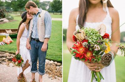 Was für einen Brautstrauß nehme ich für eine Hochzeit im Herbst?