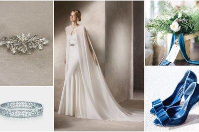 Look della settimana: sposa con mantello