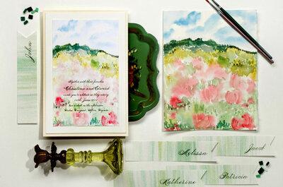 Una boda en acuarela: Ideas para integrar brochazos de hermosos colores