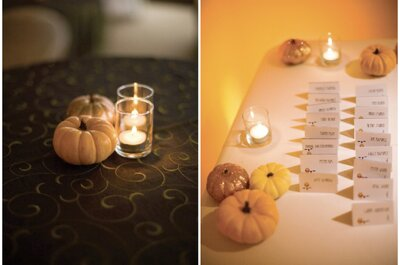 Fall wedding decor: Pumpkins