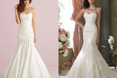 El corte sirena que todas amamos: Enamórate de estos hermosos vestidos de novia para ese día mágico