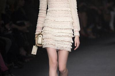 Déjate seducir por estos vestidos ideales para novias de la Paris Fashion Week