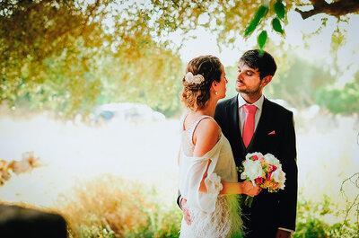 Un estilo rústico-marinero con toques vintage: así fue la boda de Tania y Miguel Ángel