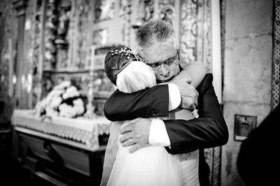 La foto de boda de la semana: ¡Feliz día del Padre!