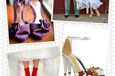 A tus pies: Zapatos de novia de colores