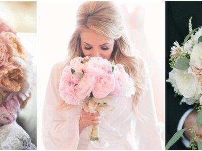 Verpassen Sie nicht diese Brautsträuße mit Pfingstrosen 2017! Florale Schönheiten mit Stil
