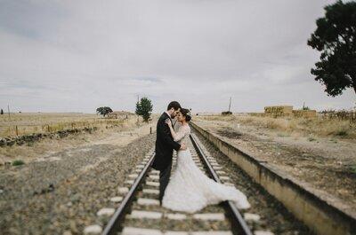 Una novia, dos vestidos y mil detalles: la boda de Myriam y Jorge