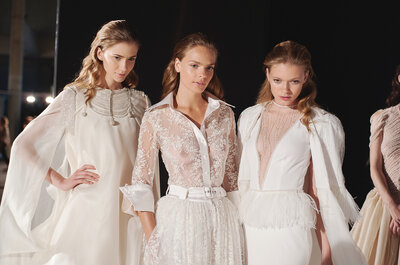 Excitement backstage at Barcelona Bridal week 2014