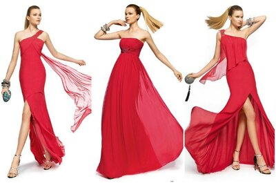 Il colore top per le invitate 2013? Il rosso! Ecco i nuovi modelli Pronovias Fiesta