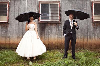 El clima no puede alterar tu boda, por Kelo Puime