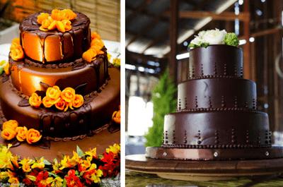 Pastel de chocolate: una deliciosa opción para tu boda
