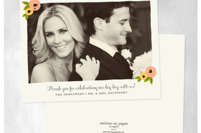 Gracias en color: Diseños originales para tus tarjetas de agradecimiento post boda