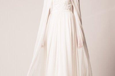 Vestidos de novia para invierno 2015: un toque de calidez en tu look
