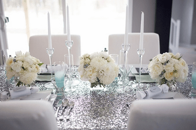 Decoración de boda en color blanco