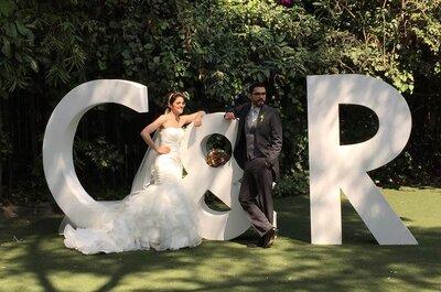 5 maneras originales de incluir sus iniciales en tu boda