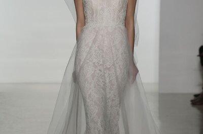 Minimalista y atemporal: Vestidos de novia primavera 2015 de Amsale