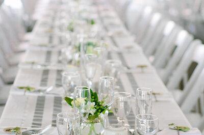 25 ideias super versáteis de caminhos de mesa para decorar seu casamento!