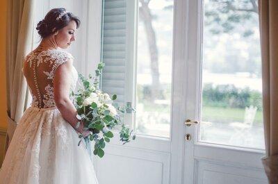 Sbocciano gli abiti da sposa con fiori: la tendenza TOP del 2017!