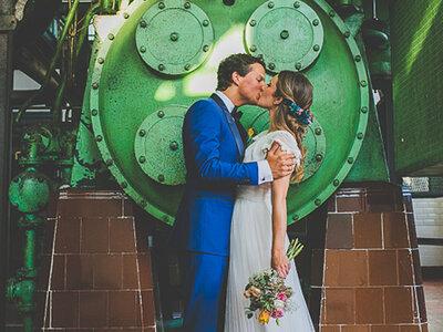 Una boda de cuento en una antigua central térmica: la boda de Nuria y Daan