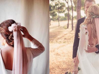 Velos de novia de colores: Lo más original del momento para un look ¡único!