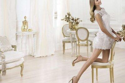 El vestido de la semana: una novia con traje corto de Pronovias