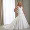 Vestido de noiva tamanho plus size. Foto:  via PlusSizeBridal.com