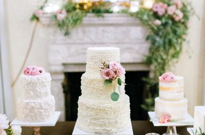 All White, la tendencia más espectacular también en tu pastel de boda